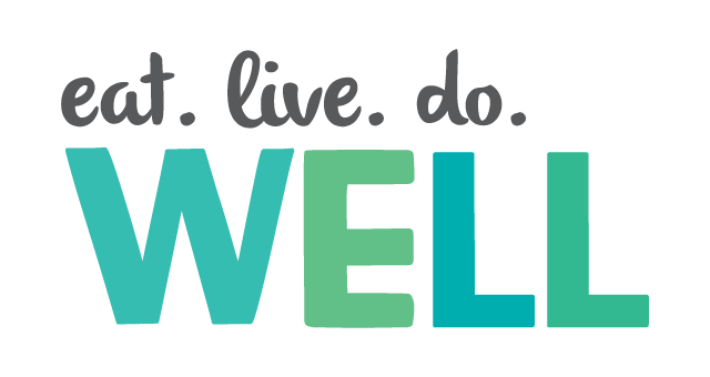 we eat. live. do. well logo