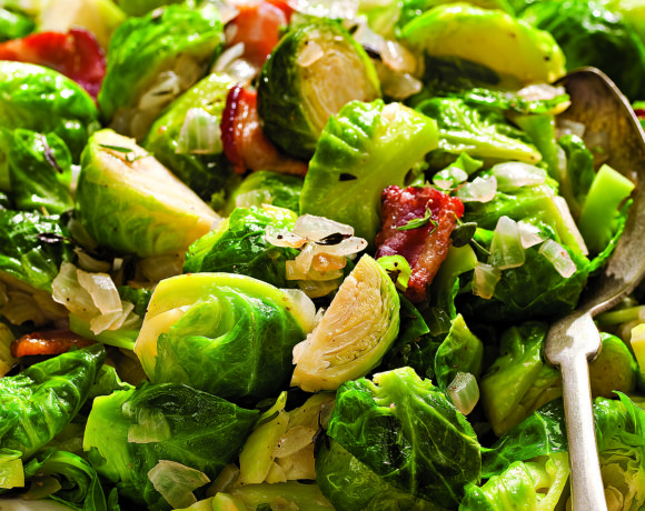 brussels sprouts with bacon and onions