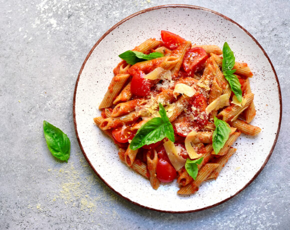 penne with fresh tomatoes whie beans basil