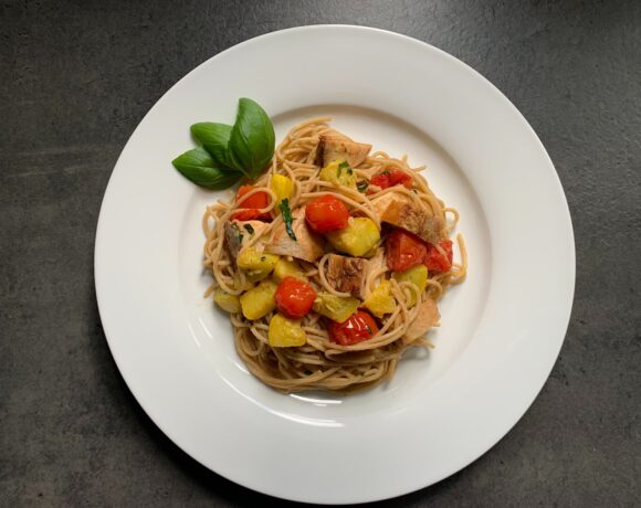 Chicken and Pasta with Basil Walnut Pesto_62653.1