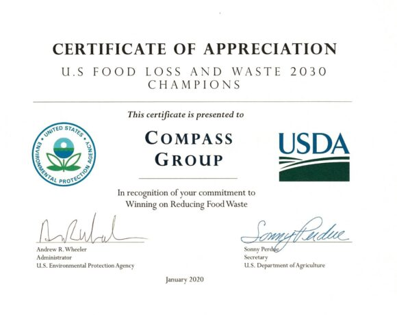 food loss and waste award USDA
