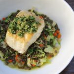 Pan Roasted Sea Bass with Warm Lentils Brussels Sprouts_76531.1