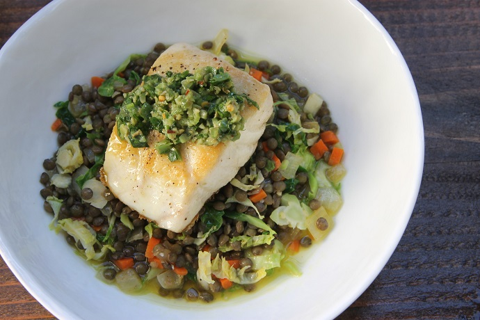 Pan Seared Sea Bass