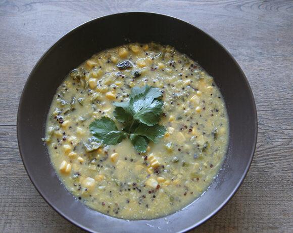 Corn and quinoa chowder