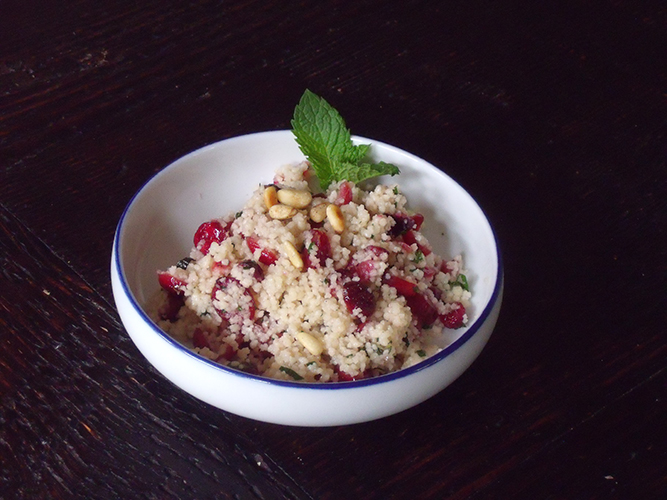 Couscous with Cranberries