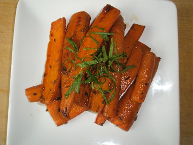 Roasted Carrots with Cumin and Cilantro
