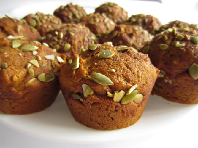Whole grain pumpkin spiced muffins