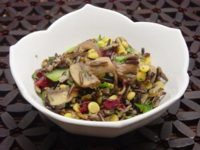 Wild Rice Salad with Cranberries and Peas