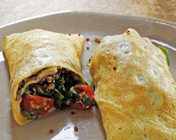 "Quinoa, Vegetable, Egg Wrap ""Burrito"""