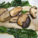 Steamed trout with ginger, lemongrass and Shiitake Broth