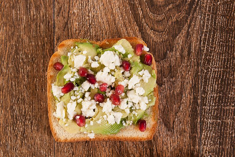 Avocado, Feta and Pomegranate Toast