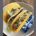 Crimson Lentil Tacos with Cabbage, Cilantro and Cotija Cheese