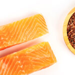 Flax Seed Crusted Salmon with Fennel and Onion
