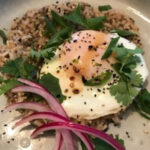 Sticky Brown Rice with Fried Egg