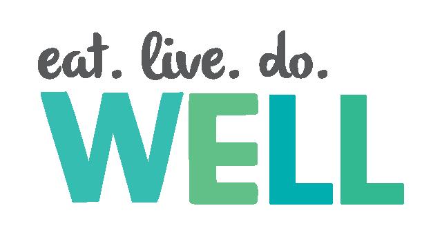 we eat. live. do. well logo